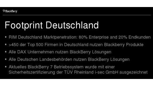 Daten aus Deutschland sollen zeigen: So schlecht steht der Blackberry-Hersteller RIM gar nicht da.