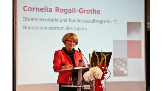 Staatssekretärin Cornelia Rogall-Grothe bei ihrer Rede.