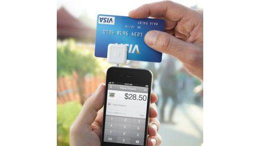 Mit dem Kartenleser von Square können auch kleine und mobile Unternehmen das Bezahlen mit Kreditkarte akzeptieren.