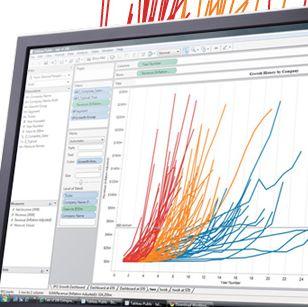 Tableau ist mit seinen Tools im EMC-Umfeld von Big Data aktiv. Es wird viel Wert auf Visualisierung gelegt.