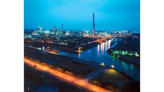 Stahlwerk in Schwelgern, Duisburg.