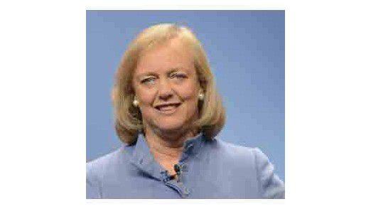 Strategie des Schweigens: Auch bei CEO Meg Whitman kein offizielles Wort über die finanzielle Situation des Unternehmens und die riesigen Abschreibungen bei Autonomy und EDS.