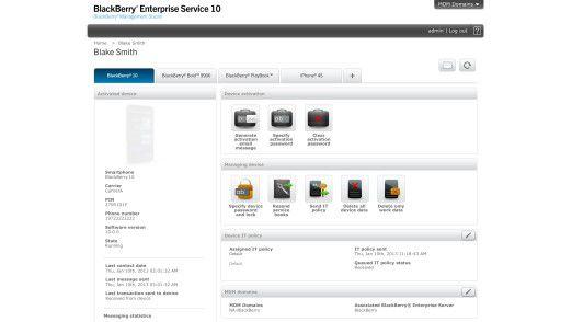 BES 10 liefert ein neues Layout und unterstützt Blackberrys, Android- und iOS-Smartphones im gleichen Management-Interface.
