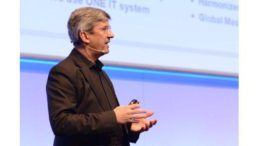 Thomas Henkel, CIO von Amer Sports, auf dem Hamburger IT-Strategietagen.