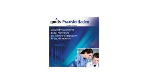 """Das Buch """"gmds-Praxisleitfaden"""" gibt einen umfassenden Überblick über die Grundlagen von digitaler Archivierung im Gesundheitswesen."""