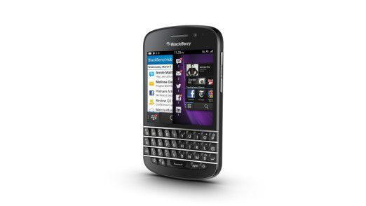 Treffen der Generationen: Das Q10 kombiniert das neue Blackberry 10 mit der bewährten Qwertz-Tastatur.