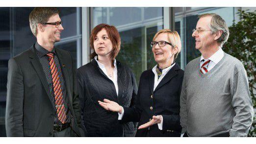 Das interdisziplinäre Team von Conti: Harald Schirmer, Monika Andrae, Martina Girkens und Oliver Fröhlich (von links)