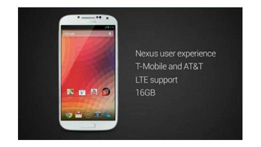 Google zeigt das Galaxy S4 Nexus Edition