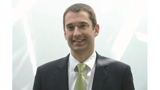 Den Chef kennen die Mitarbeiter auch verschwitzt im Sportoutfit: Trudbert Vetter, Vorstand der DV-Ratio.