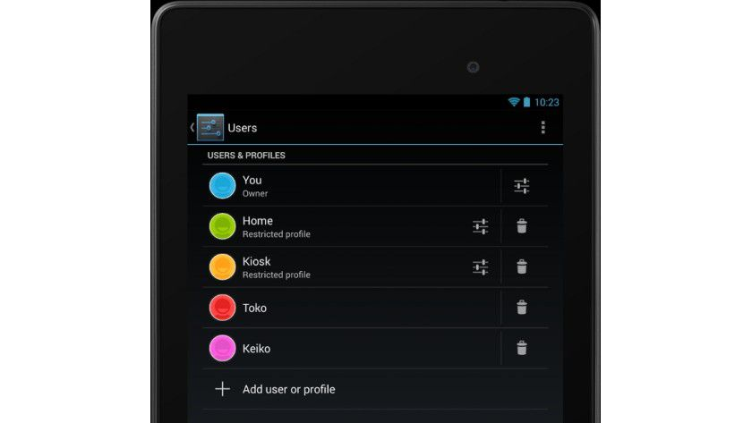 Profilfunktionen: Mit Jelly Bean 4.3 erweitert Google die Profil-Funktion