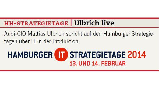Audi-CIO Mattias Ulbrich spricht auf den Hamburger Strategietagen über IT in der Produktion.