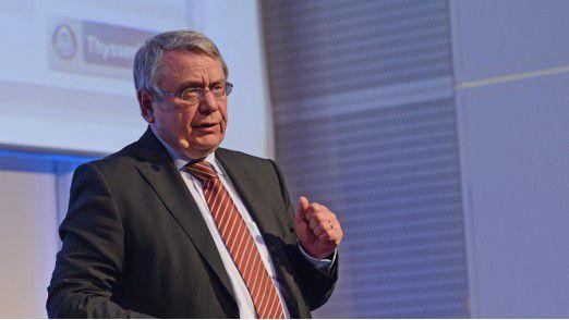 Olaf Röper, CIO der Thyssen Krupp Industrial Solutions AG, auf den Hamburger IT-Strategietagen.