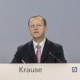 Deutsche Bank-Vorstand Stefan Krause wird im Vorstand die Strategie bestimmen.