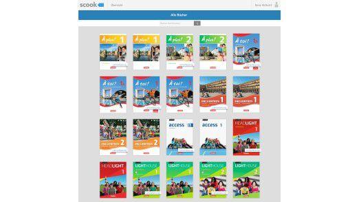 Die Online-Bibliothek von scook enthält für den Start gut 350 digitale Lehrbücher.