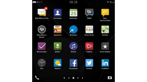 Blackberry OS 10.3 auf dem Blackberry Passport