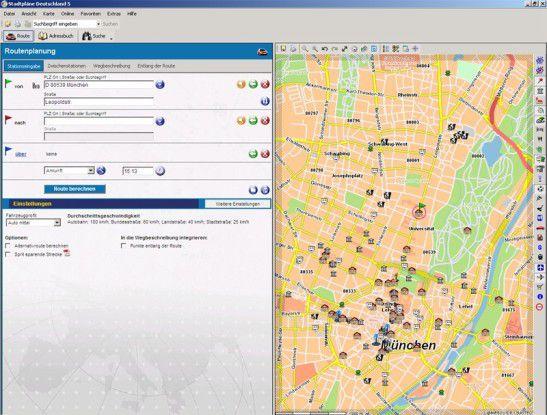 Detaillierte Orientierung in deutschen Städten