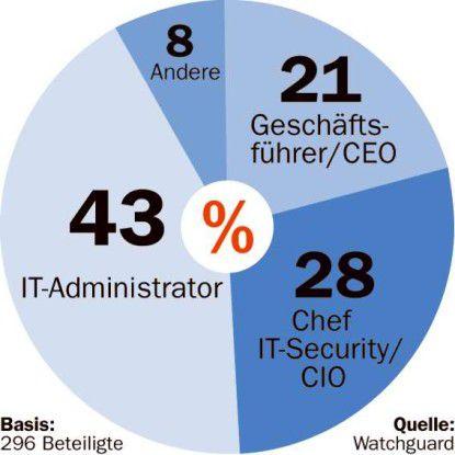 In Deutschland und Großbritannien kümmern sich meist die IT-Professionals um das Thema Sicherheit.