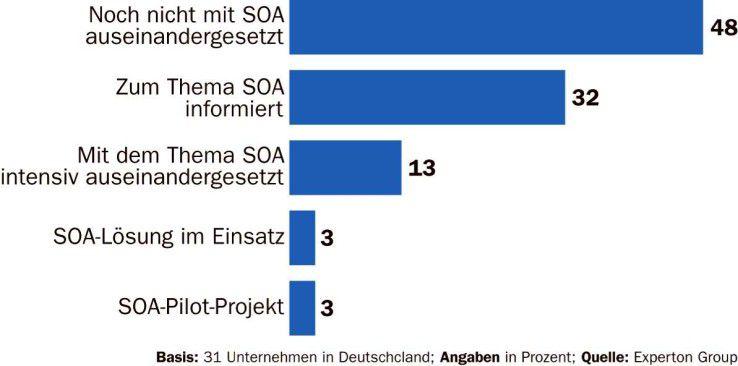 Hierzulande noch eine Rarität: die Umsetzung von SOA-Projekten.