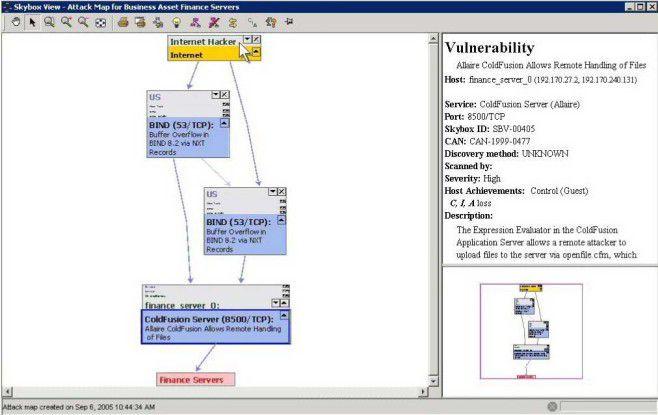 VM-Werkzeuge wie die Skybox View Suite von Skybox Security zeigen, wie es eine Kette von Schwachstellen Angreifern ermöglicht, in kritische Unternehmenssysteme einzubrechen.