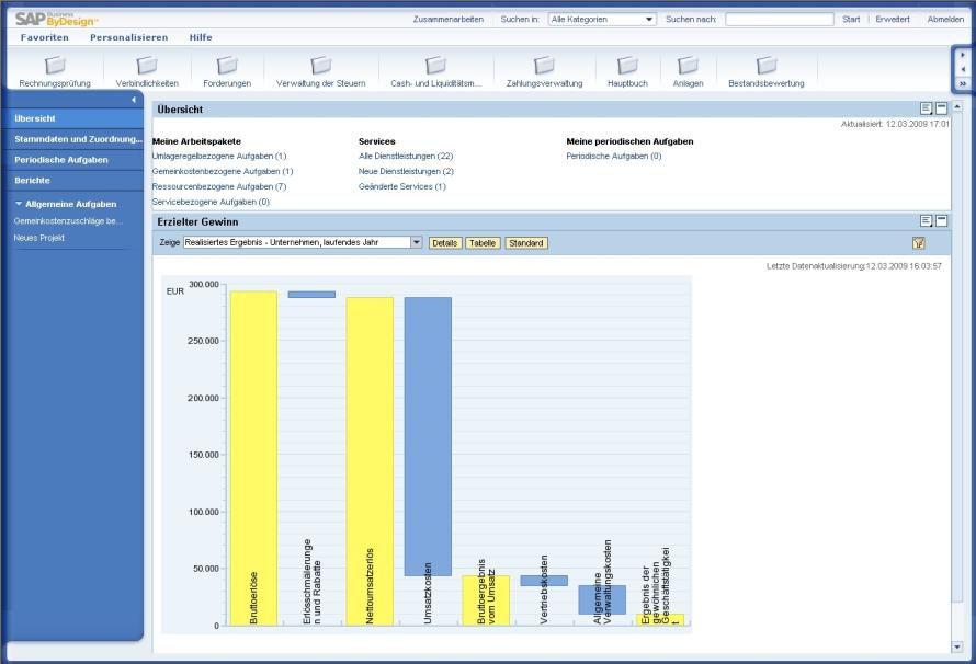Bild benutzeroberfl che von sap business bydesign zu for Sap jobs gehalt