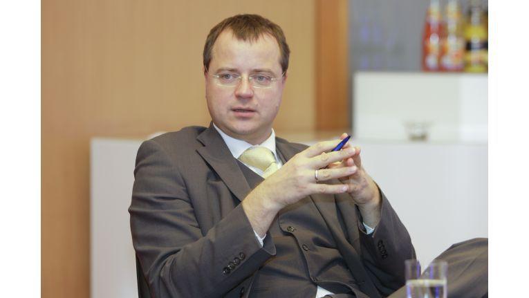 """Thomas Leitert, Vorstand/CEO TimeKontor AG, Ausrichter des """"GreenIT Best Practice Award 2010""""."""
