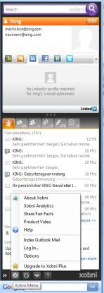 Outlook-Plug-in Xobni