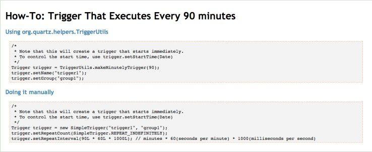 Job Scheduling für immer wiederkehrende Aufgaben - in Java-Projekten eignet sich dafür der Quartz Enterprise Job Scheduler.