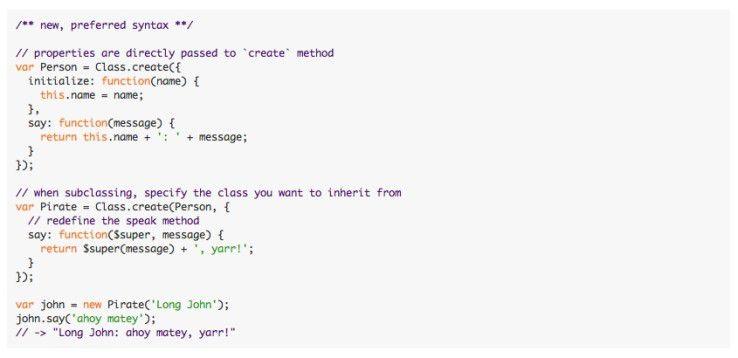 Mit Prototype lassen sich Konzepte der objektorientierten Programmierung wie Klassen und Vererbung leicht implementieren.