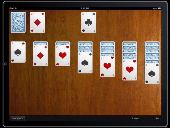 Die Demo-Anwendung Touch Solitaire für das iPad zeigt eindrucksvoll das Potenzial des neuen HTML-Framework Sencha Touch.