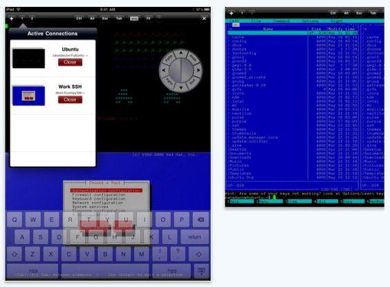Dank iSSH können Admins mit dem iPad auf ihre Server remote zugreifen.