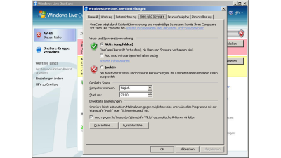 Test: Windows Live One Care 2.0