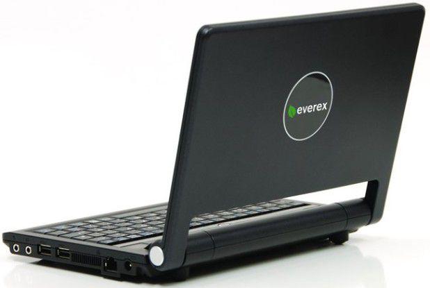 Das Cloudbook von Everex kommt in schwarz und mit Festplatte auf den US-Markt.