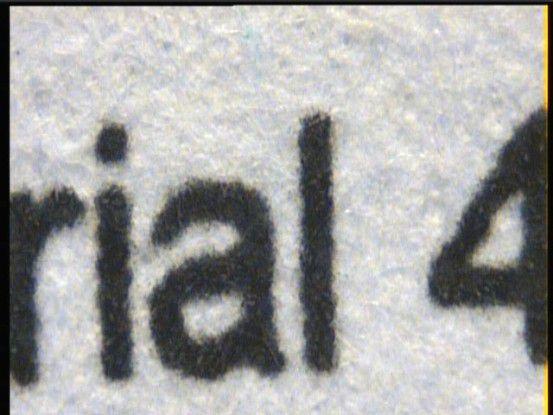 Lexmark C530dn: Die Buchstabenränder fielen etwas rau aus