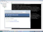 Testphase: Hier sehen Sie die neu erstellte Cloud-Anwendung in der lokalen Simulationsumgebung.