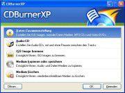 CDBurnerXP: Neben dem Anlegen von Daten- und Audio-CDs lassen sich ISO-Images brennen, Medien kopieren oder speichern sowie wiederbeschreibbare Medien löschen.