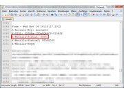 Statusangabe: In einer Mbox-Datei verrät der Zahlencode hinter dem X-Mozilla-Status, ob Thunderbird eine Nachricht etwa zum Löschen markiert hat.